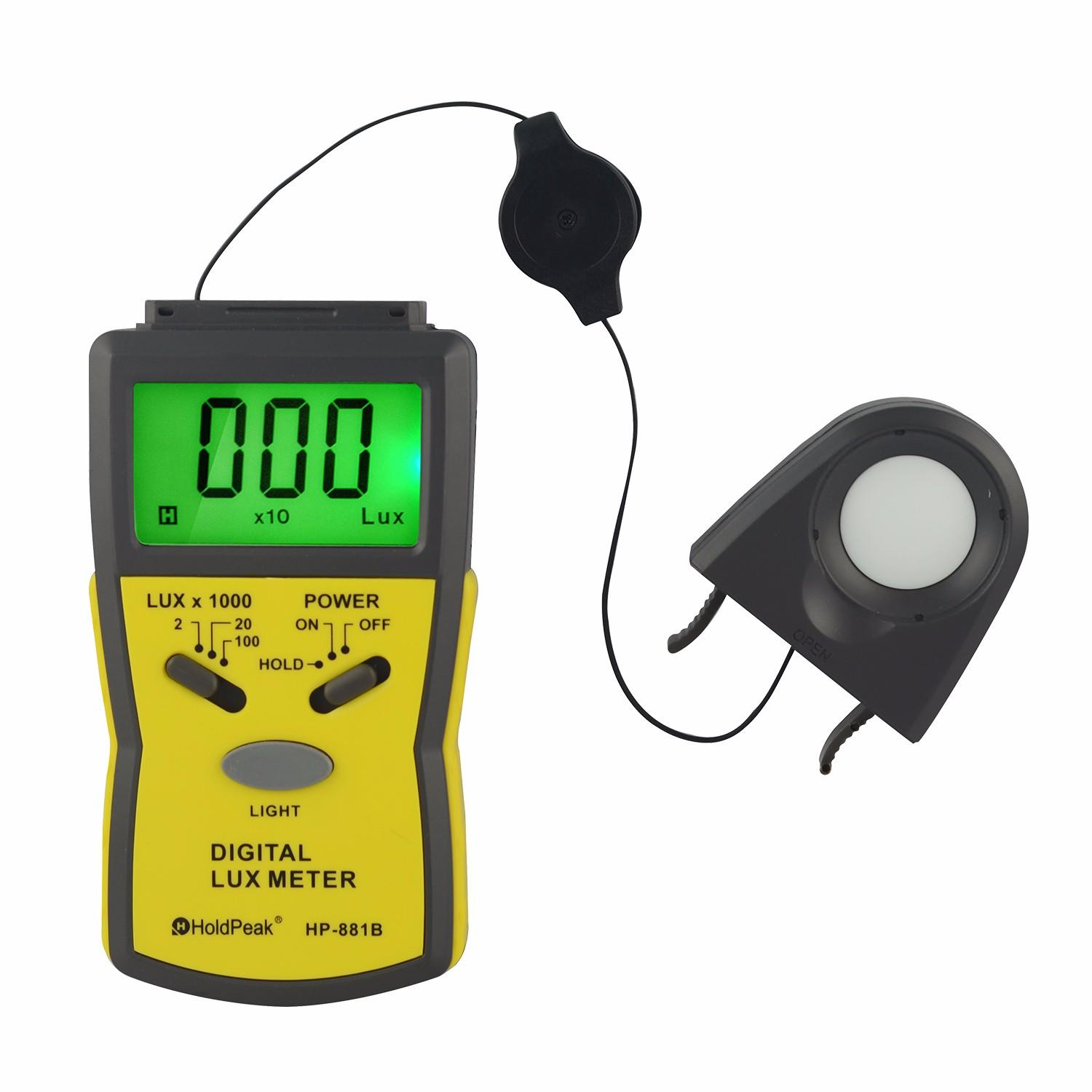 HoldPeak illuminometer colour meter photography company for electrical-1