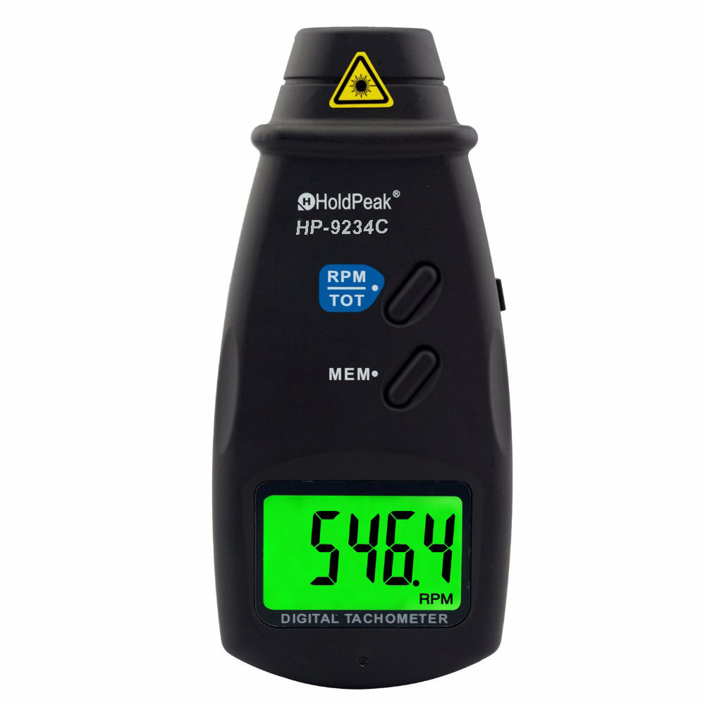HoldPeak range digital laser tachometer Supply for electric fans-1