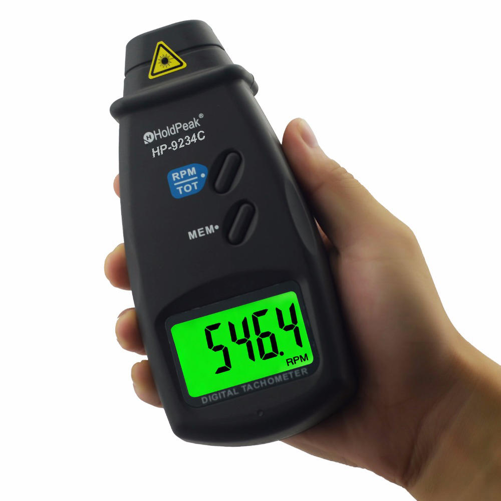 HoldPeak range digital laser tachometer Supply for electric fans-2