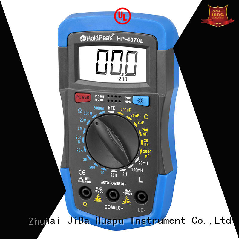 HoldPeak manual multimeter tester manufacturing for electronic