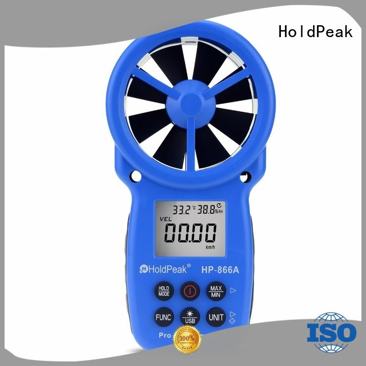 HoldPeak portable handheld anemometer in china for tower crane