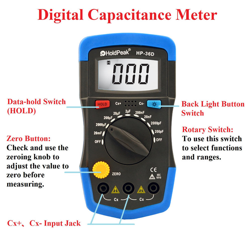 frequency test multimeter manufacturing for physical HoldPeak-1