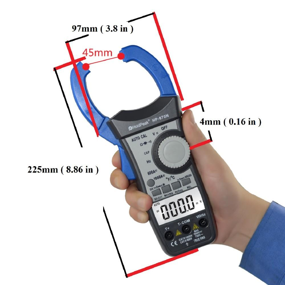 HoldPeak price clip multimeter factory for communcations for manufacturing-2