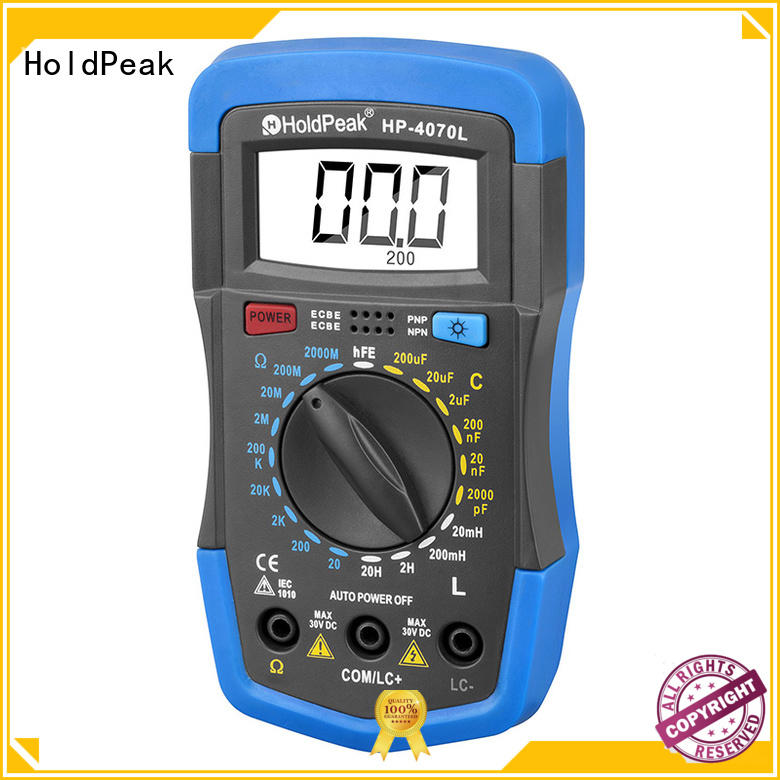HoldPeak inductancehfe ammeter vs multimeter company for electrical