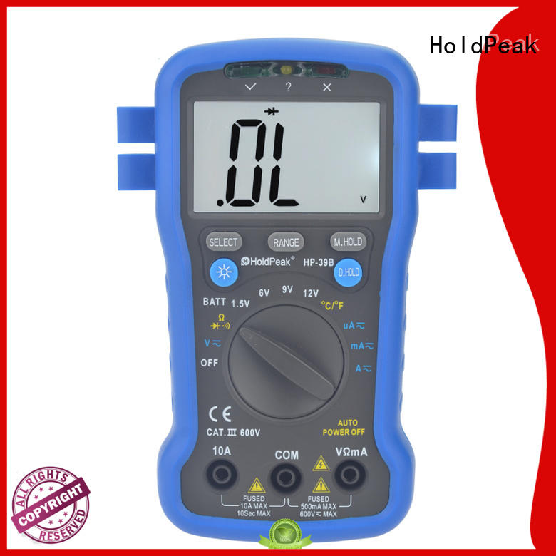 HoldPeak hold manual ranging multimeter vendor for physical