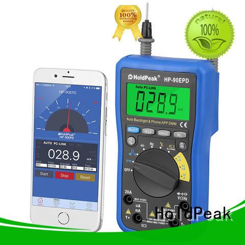 HoldPeak connect digital multimeter overseas market for measurements