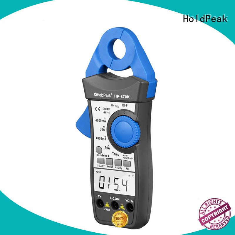 HoldPeak fashion design clamp dc meter manufacturers for communcations for manufacturing