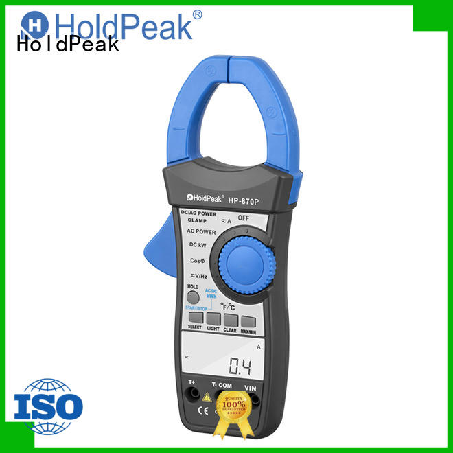 HoldPeak portable analog clamp on ammeter company for electricity chemical industries