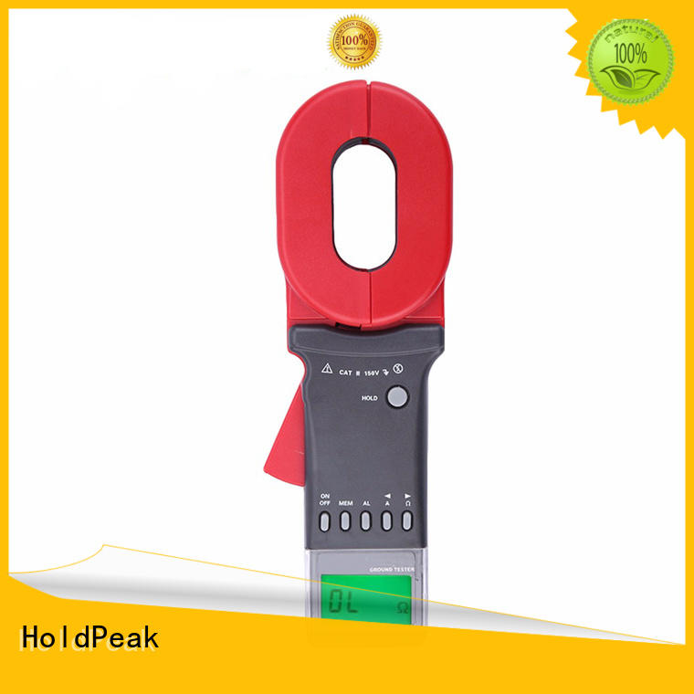 HoldPeak digital clamp on earth resistance tester company for industrial electrical equipment industry