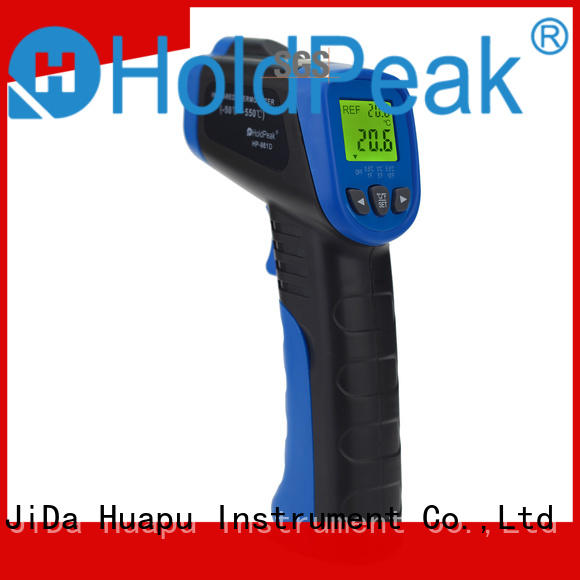 HoldPeak noncontact infrared laser thermometer button design for industrial production