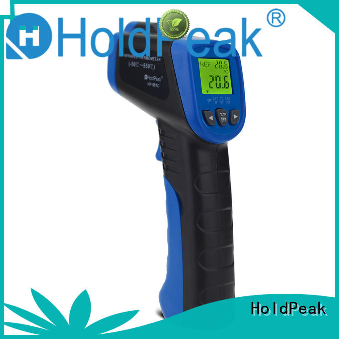 HoldPeak alarm high accuracy infrared thermometer factory for inspection