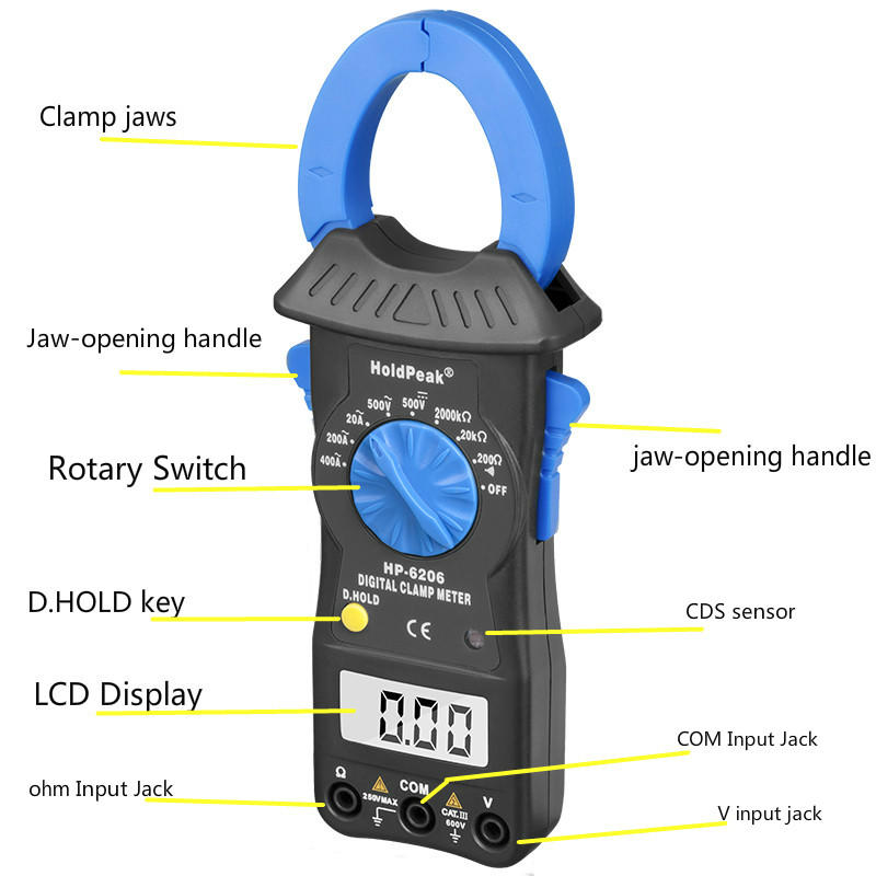 HoldPeak low cheap clamp meter company for smelting-1