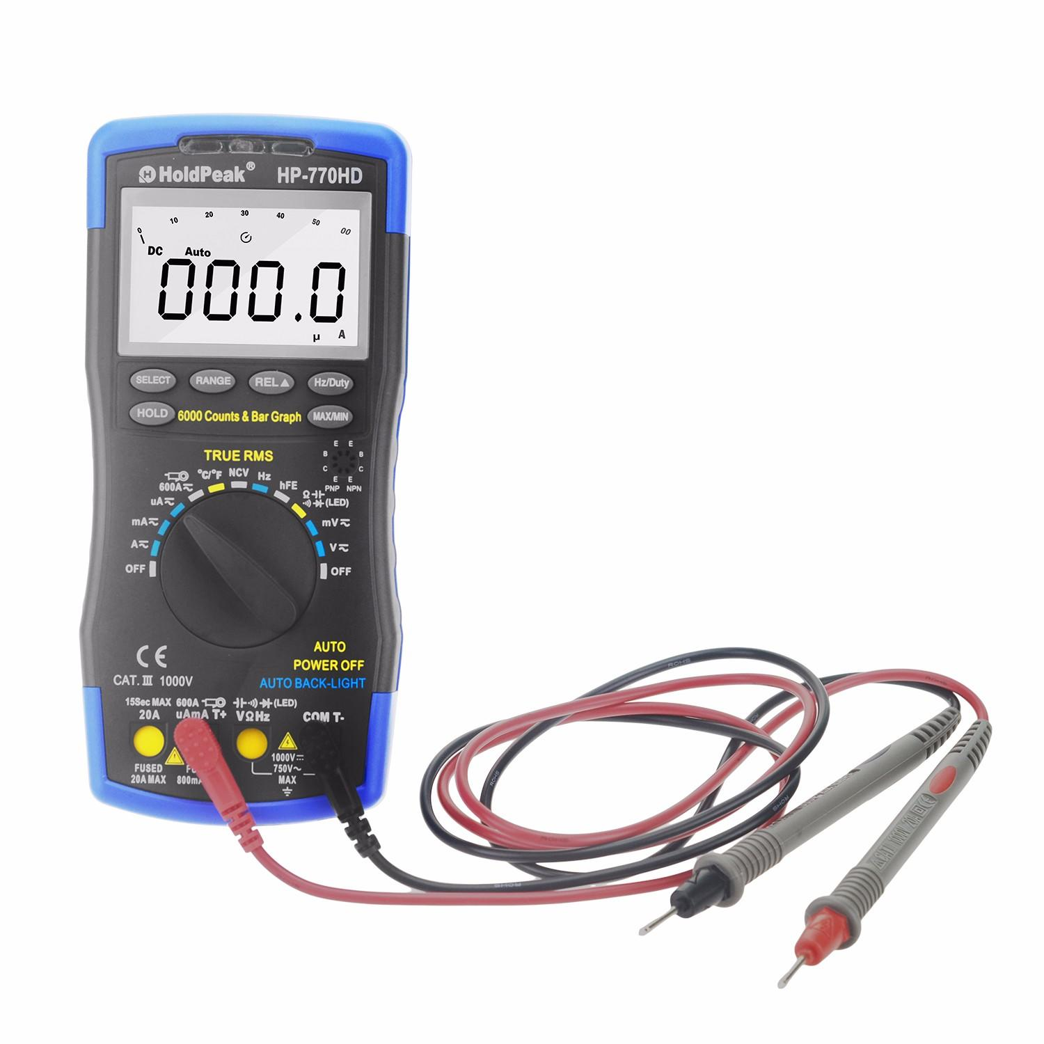 HoldPeak rms digital multimeter manual company for electronic-2