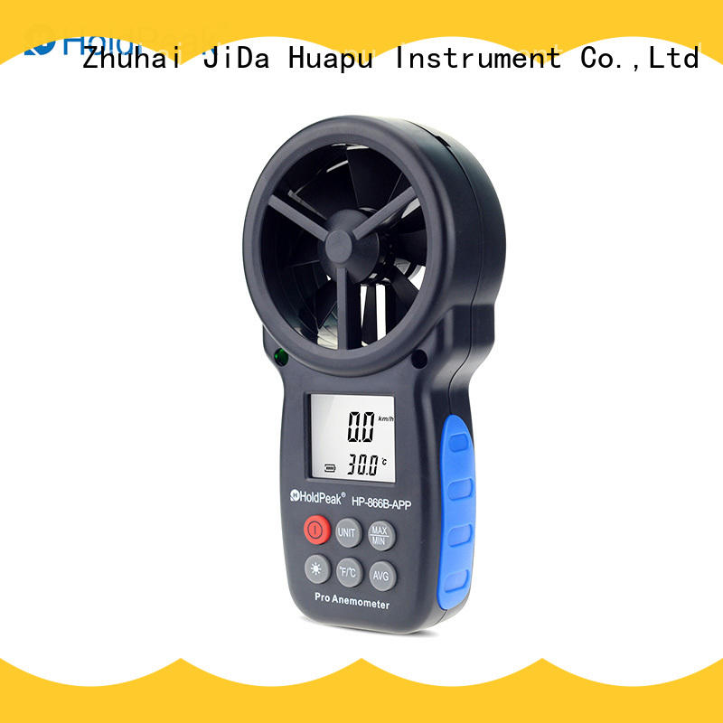 HoldPeak good-looking portable anemometer factory price for communcations