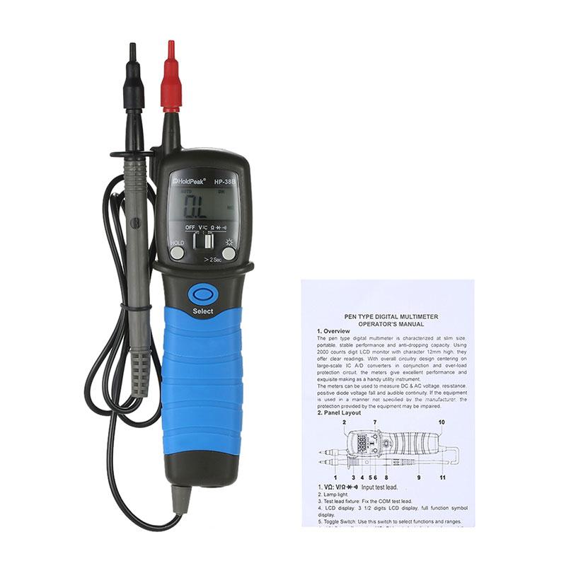 HoldPeak Custom digital voltmeter and ammeter circuit Supply for electrical-14
