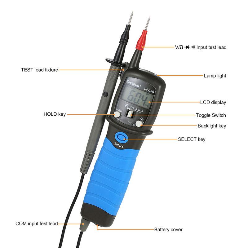HoldPeak Custom digital voltmeter and ammeter circuit Supply for electrical-8