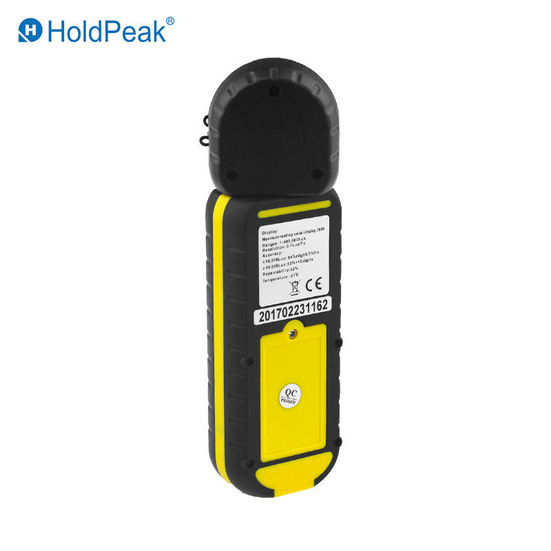 HoldPeak HP-881D New Digital LUX Meter 4000,000 LUX/FC selection High Precision Digital Luxmeter Handheld Type Illuminometer