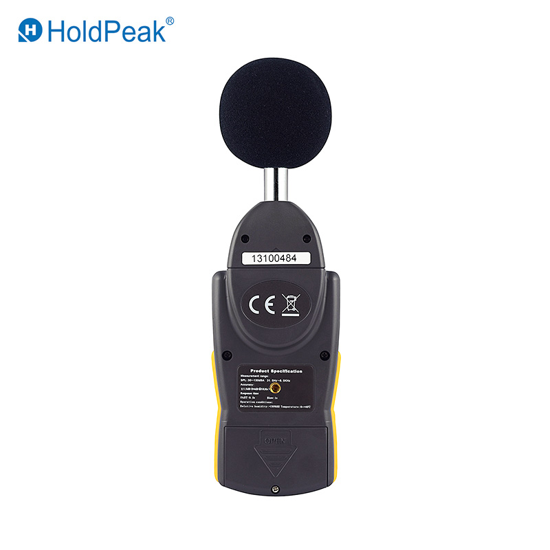 video-HoldPeak portable sound measuring instrument environment for measuring steady state noise-Hold-1