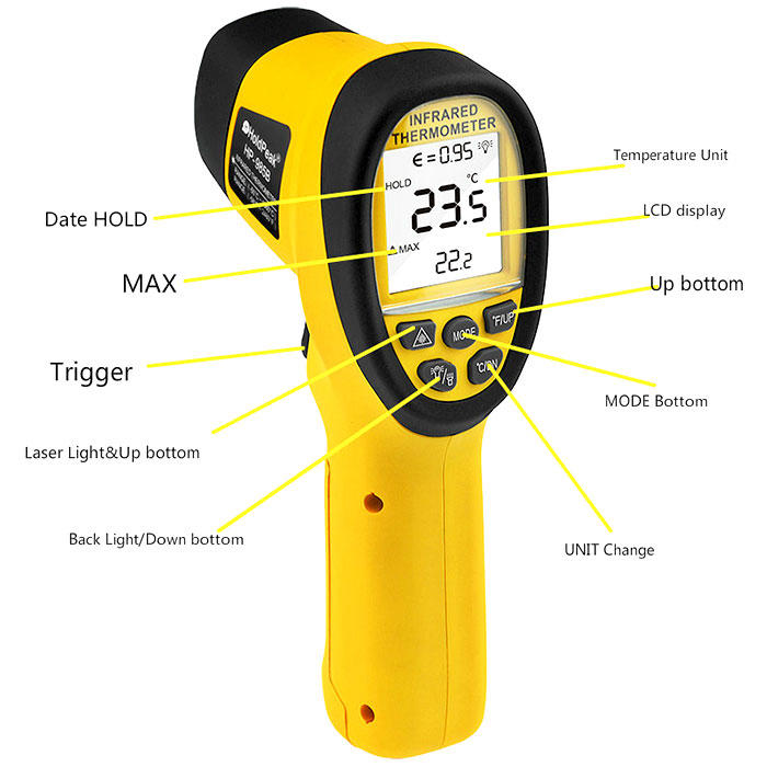 fashion design digital infrared thermometer infrared with many colors for military