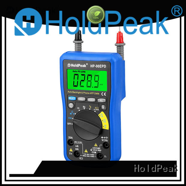 HoldPeak easy to use multiple thermocouple reader for business for environmental testing