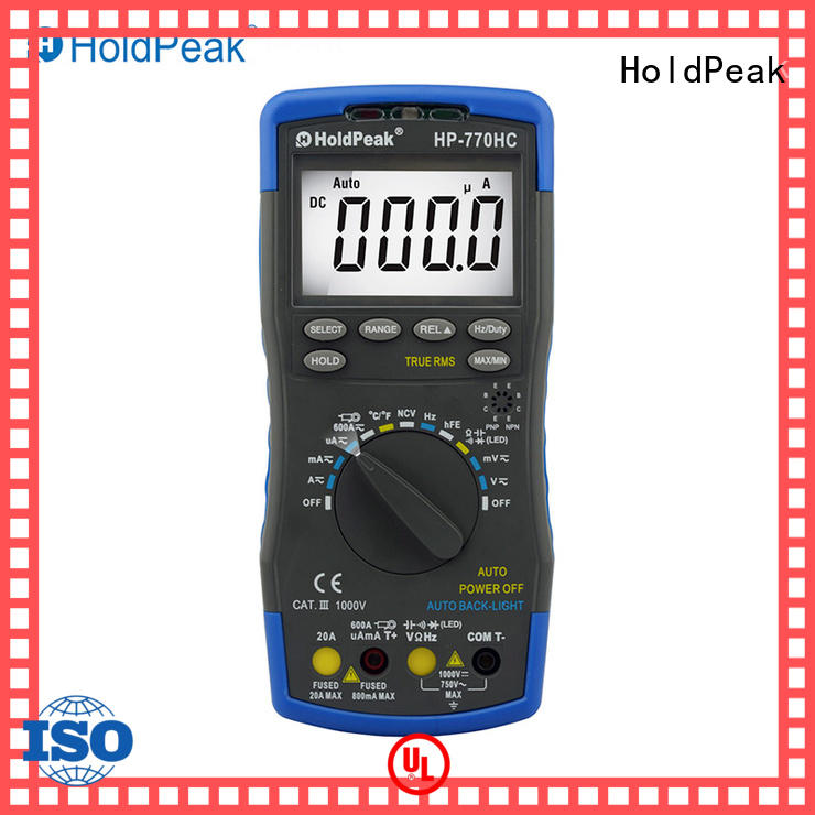 HoldPeak anti-dropping digital voltmeter online factory for physical