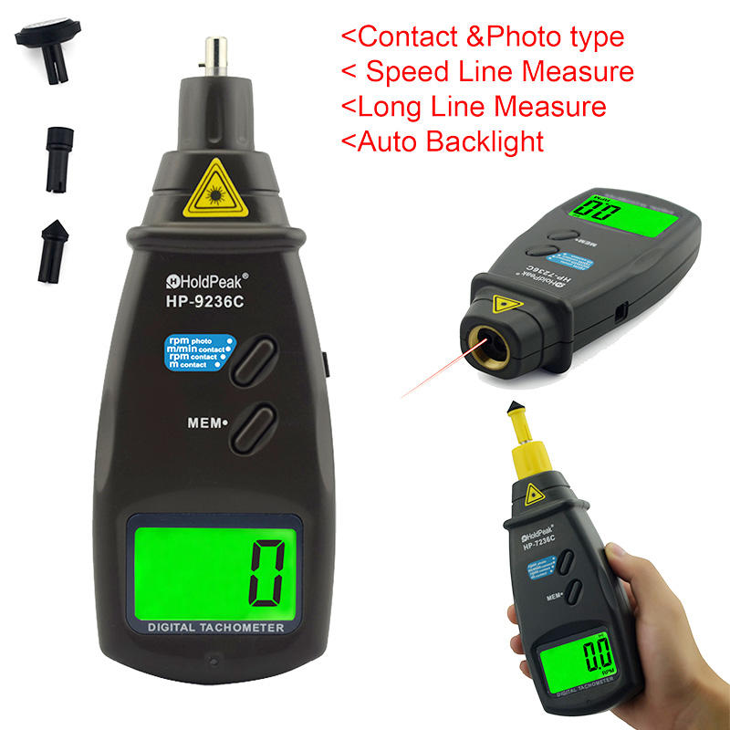 HoldPeak easy to use digital photo tachometer company for motors-2