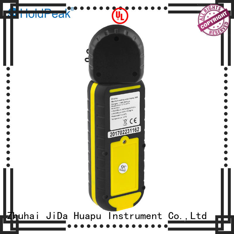 HoldPeak high-tech digital lux meter in different usage for testing