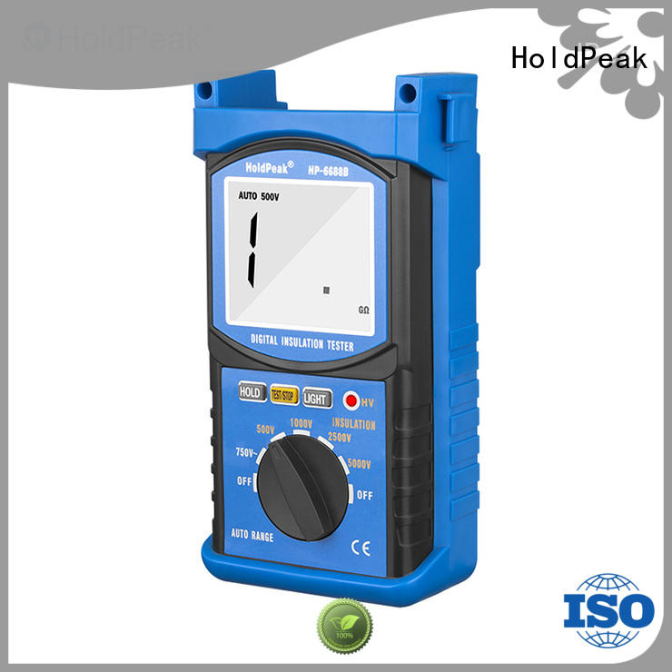 HoldPeak easy to carry digital insulation resistance tester factory for maintenance