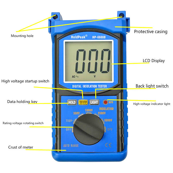 small cheap insulation tester insulation Supply for verification-1