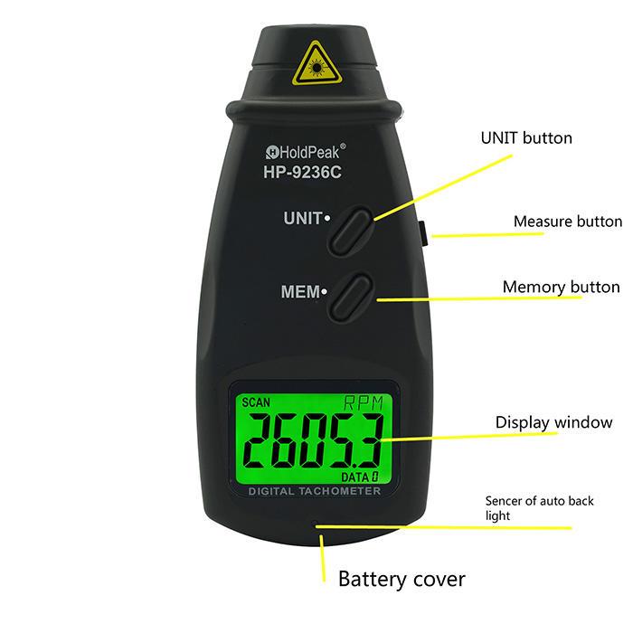 HoldPeak easy to use digital photo tachometer company for motors-1
